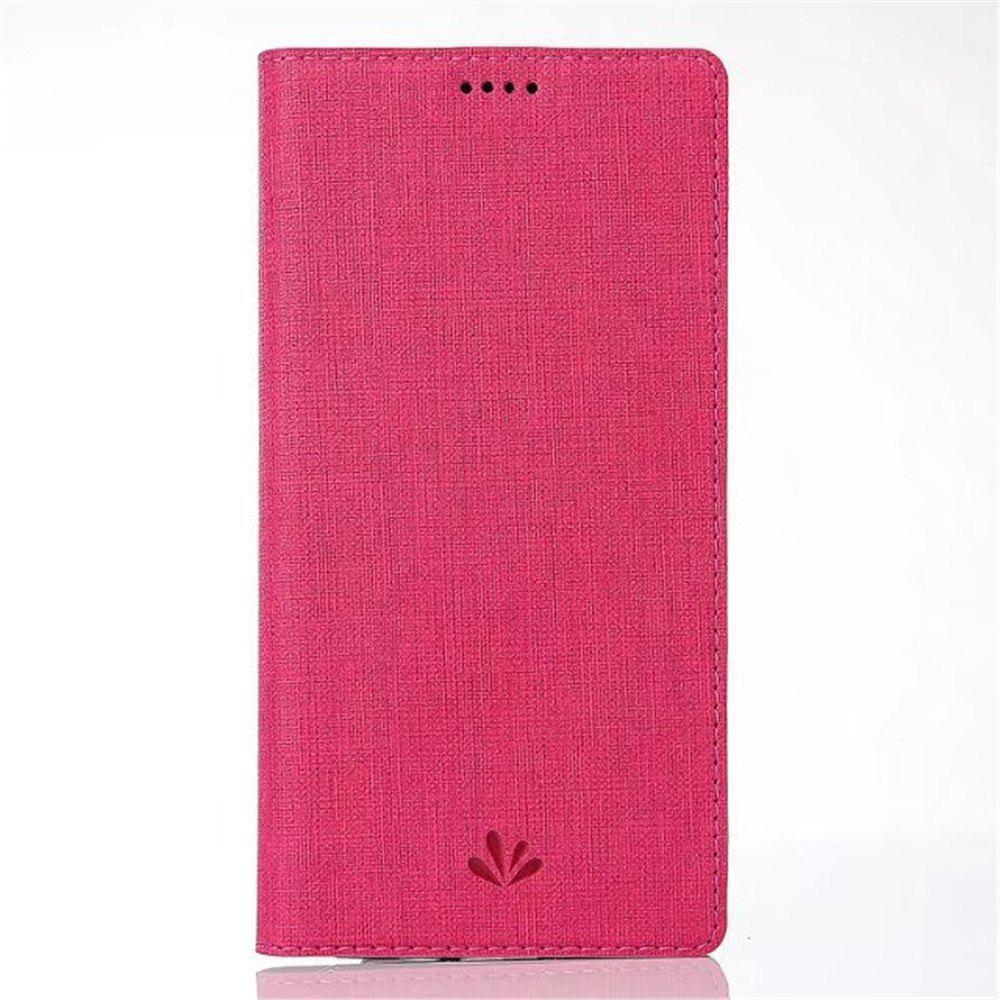 for SONY Xperia XZ1 Compact Smart Wakes Up Dormant Full Pack to Protect Leather Cover Cartridge Shell - ROSE RED