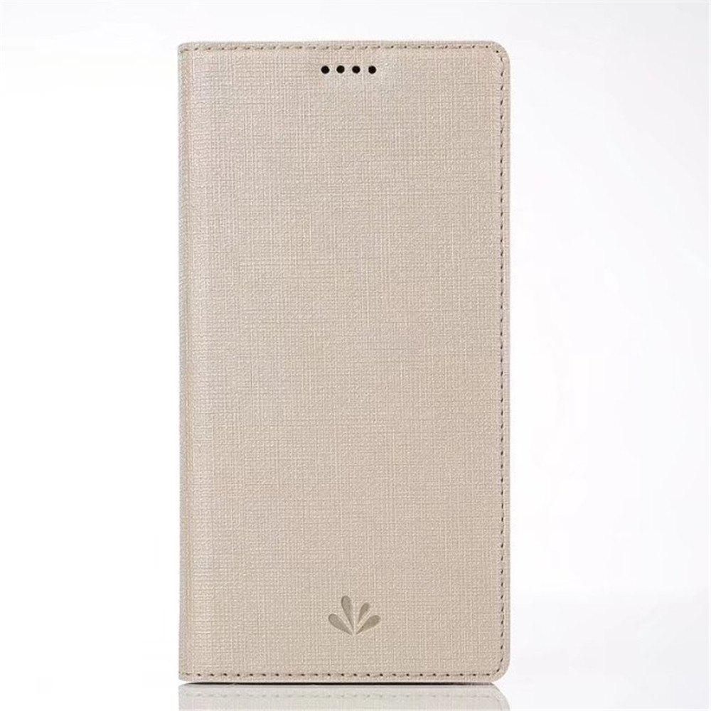 for SONY Xperia XZ1 Compact Smart Wakes Up Dormant Full Pack to Protect Leather Cover Cartridge Shell - CHAMPAGNE GOLD