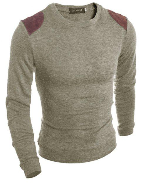 Couleur mode hommes pull - Beige XL