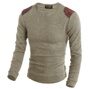 Pure Color  Fashion Men Sweater - BEIGE 2XL