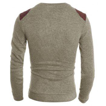 Pure Color  Fashion Men Sweater - BEIGE L