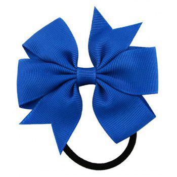 Fashion Ribbed Ribbon Bow Loop - BLUE