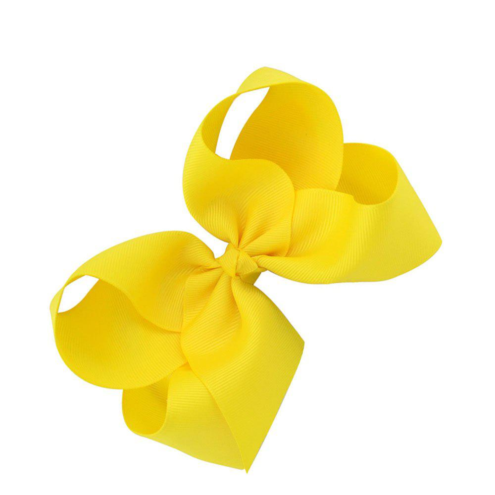 Fashion Flower Bow Duckbill Clip - YELLOW