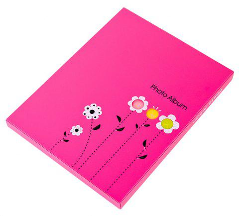 6 Inch Photo Album Postcard Travel Growth Collection 80 Pieces - MEI RED 23.4X18.4X1.7CM