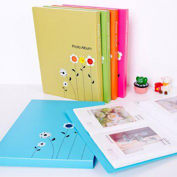 6 Inch Photo Album Postcard Travel Growth Collection 80 Pieces - YELLOW 23.4X18.4X1.7CM