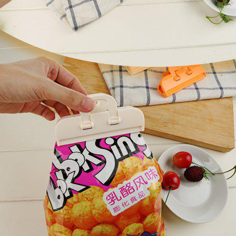 Household Food Bag Sealing Clipstrength - WHITE 10X2X5CM