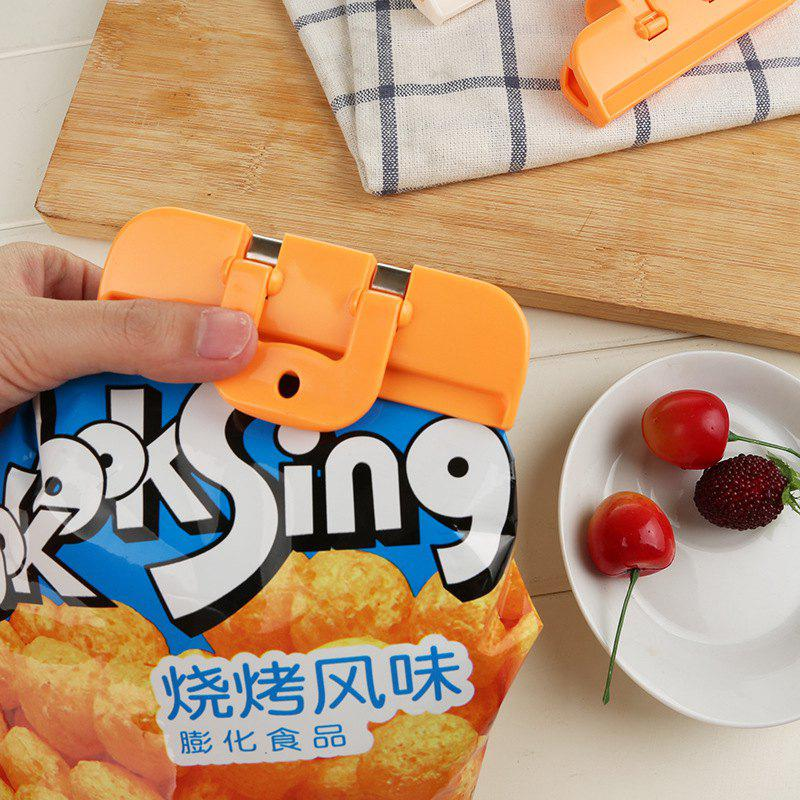 Household Food Bag Sealing Clipstrength - ORANGE 10X2X5CM