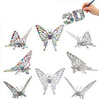 3D Coloring Puzzles Educational Toys Creative Toys Animals Butterfly Elephant Horse - COLORMIX BUTTERFLY