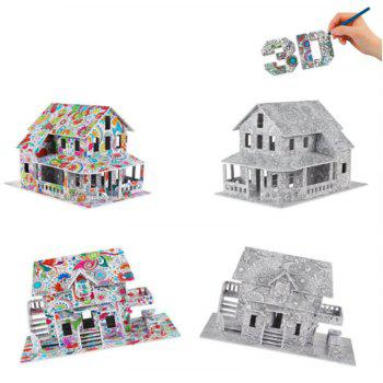 3D Coloring Puzzles Educational Toys Creative Toy Houses - COLORMIX TYPEB