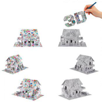 3D Coloring Puzzles Educational Toys Creative Toy Houses - COLORMIX TYPEC