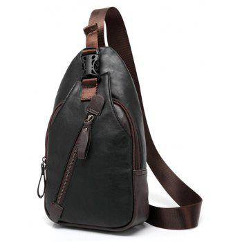 Korean Leather Men s Chest Pack Fashion