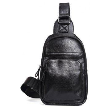 Soft Leather Chest Pack Fashion Unbalance Backpack