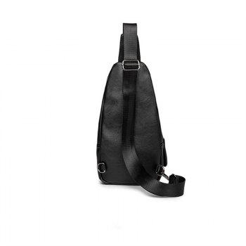 Fashion Unisex Chest Pack Men's Unbalance Backpack Casual Small Bag - BLACK