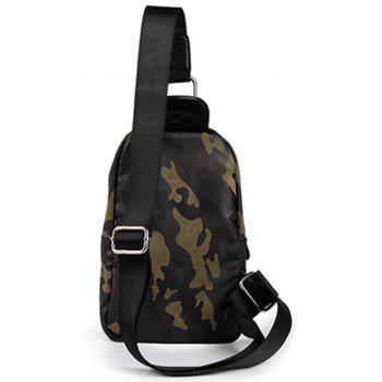 Camouflage Army Green Men's Unbalance Backpack Outdoor Small Chest Pack Climbing Waist Bag - CAMOUFLAGE