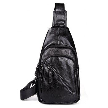 Men s Leather Unbalance Backpack Small Soft