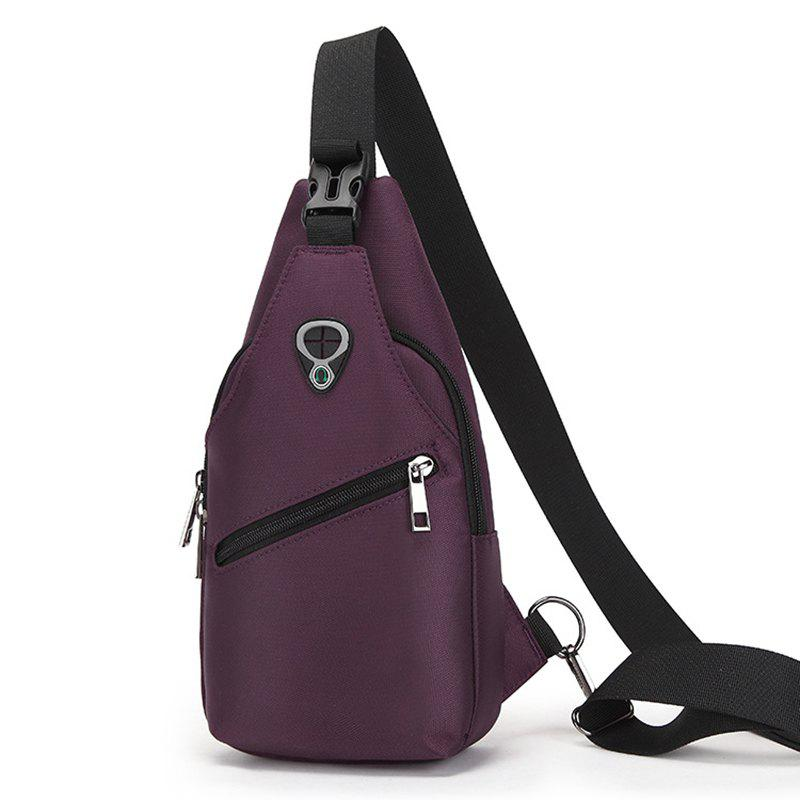 Man Chest Bag Casual Trend Multi-functional Waterproof Oxford Shoulder Diagonal Package - PURPLE VERTICAL