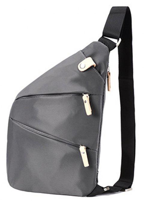 Men Chest Bag Man's Casual Messenger Bag  Backpack - GRAY VERTICAL