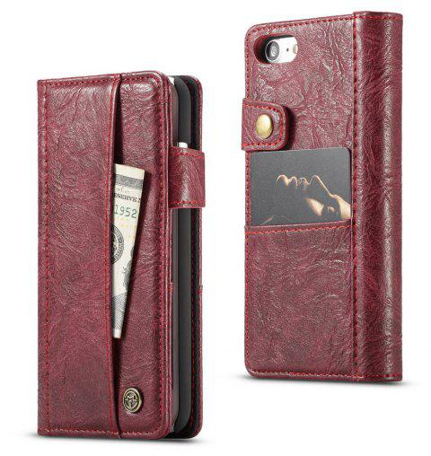 CaseMe Vintage Style PU Leather Wallet Phone Case for iPhone 7/8 - RED