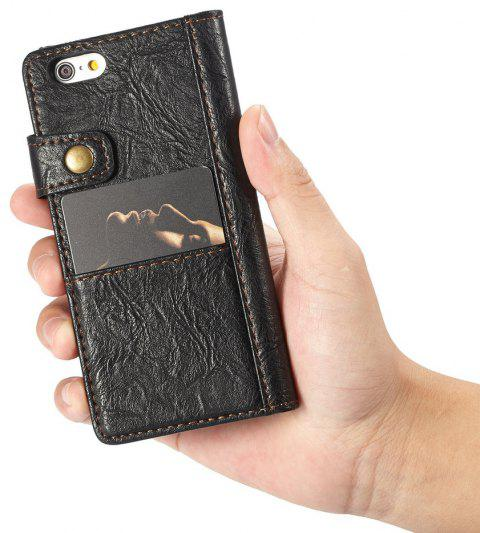 CaseMe for iPhone 6/6s 4.7 inch Cover Anti-Scratch Wallet Flip Mobile Phone Case - BLACK