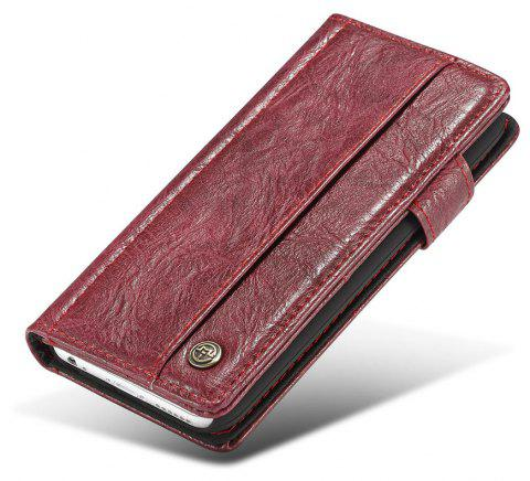 CaseMe for iPhone 6/6s 4.7 inch Cover Anti-Scratch Wallet Flip Mobile Phone Case - RED