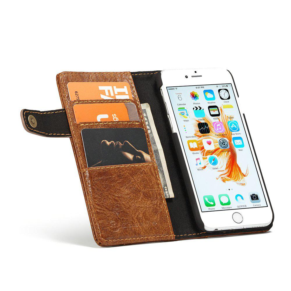 CaseMe for iPhone 6/6s 4.7 inch Cover Anti-Scratch Wallet Flip Mobile Phone Case - BROWN