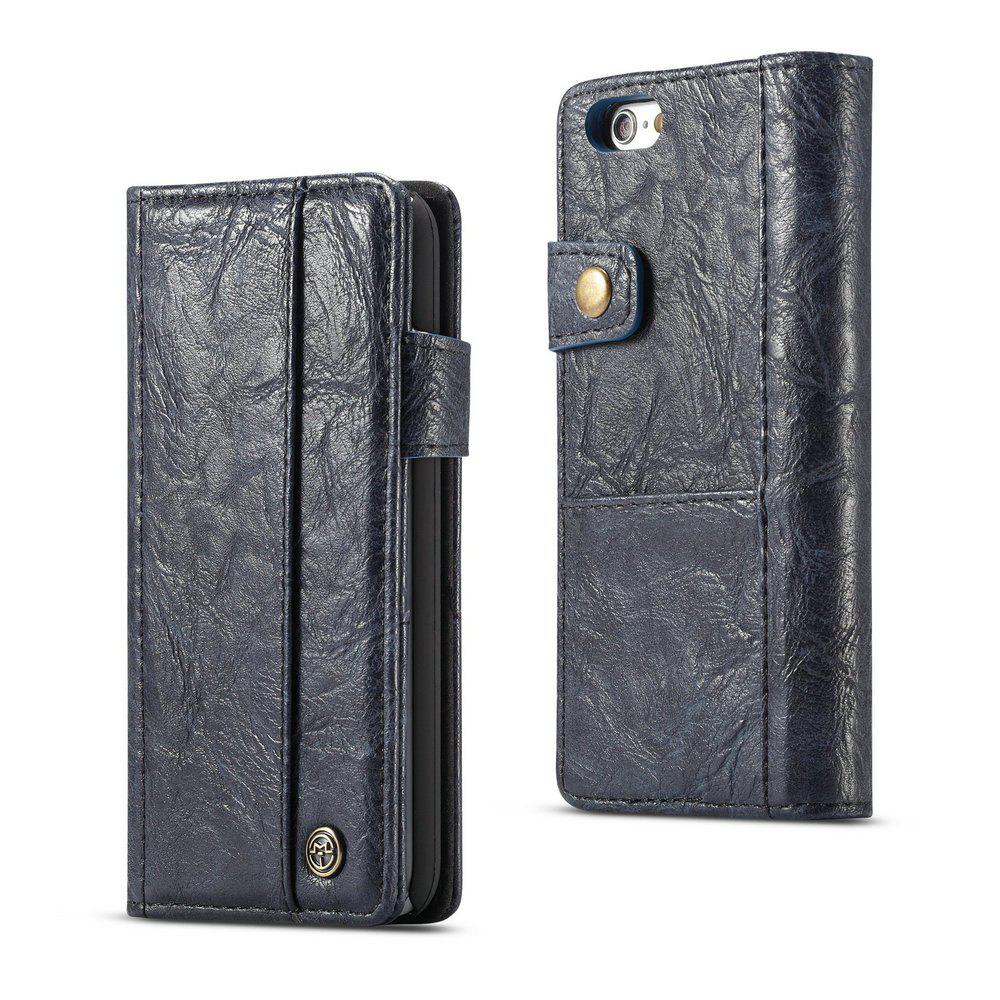 CaseMe for iPhone 6/6s 4.7 inch Cover Anti-Scratch Wallet Flip Mobile Phone Case - BLUE