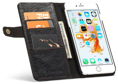 CaseMe Smart Flip Wallet Mobile Phone PC Cover Case for iPhone 6 Plus/6s Plus Accessories - BLACK