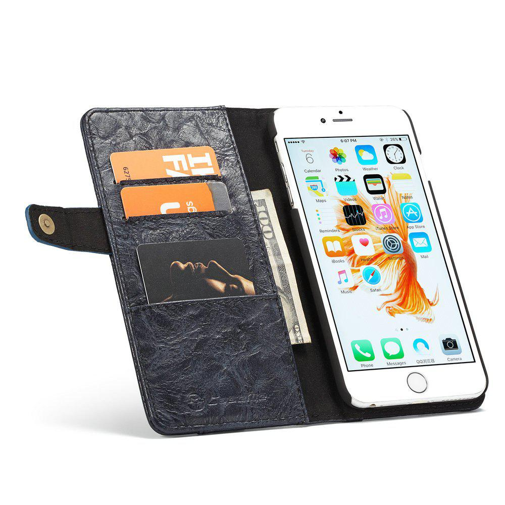 CaseMe Smart Flip Wallet Mobile Phone PC Cover Case for iPhone 6 Plus/6s Plus Accessories - BLUE
