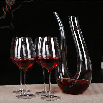 RCOMS1950 Crystal Wine Glasses Set Hand Blown Lead-Free Perfect for Any Occasion Great Gift - TRANSPARENT