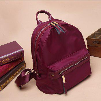 Woman's New Style Backpack Female Nylon Fashion Backpack Bag - RED LARGE