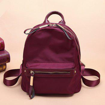 Woman's New Style Backpack Female Nylon Fashion Backpack Bag - RED SMALL