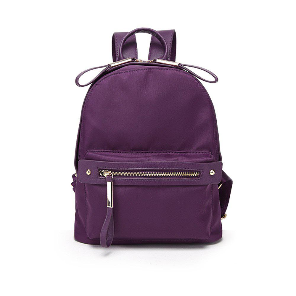 Woman's New Style Backpack Female Nylon Fashion Backpack Bag - PURPLE LARGE