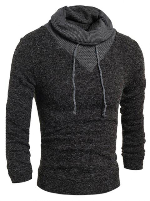 New  Fashion Hedging High-Necked Solid Color Sweater - DARK GRAY 2XL