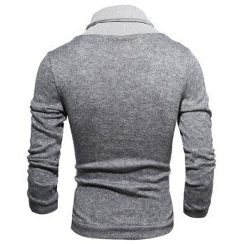 New  Fashion Hedging High-Necked Solid Color Sweater - LIGHT GRAY L