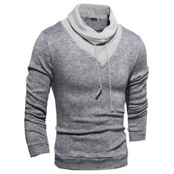 New  Fashion Hedging High-Necked Solid Color Sweater - LIGHT GRAY XL