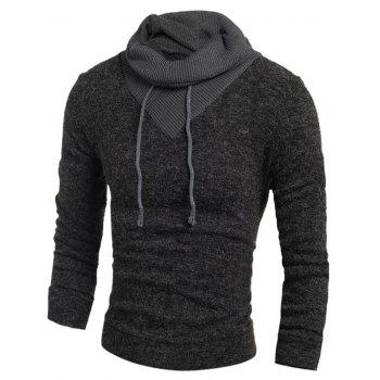 New  Fashion Hedging High-Necked Solid Color Sweater - DARK GRAY L