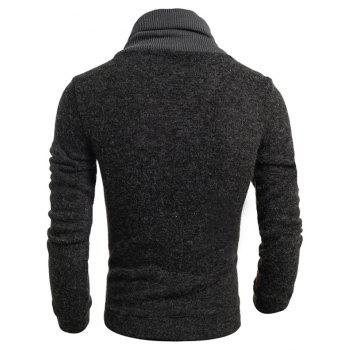 New  Fashion Hedging High-Necked Solid Color Sweater - DARK GRAY XL