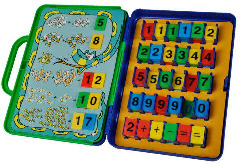 Preschool Maths Cards Learning Toys - COLORFUL/WHITE