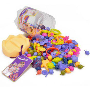 NuKied Pop Snap Beads Girl Toy 162PCS - COLORFUL