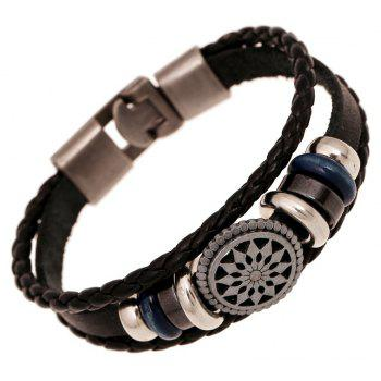 Buckle Men S Jewelry Weave Leather Bracelet