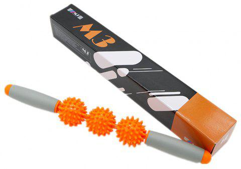 Restore Pressure Point Muscle Roller Massage Stick Promote Circulation for Rapid Healing - ORANGE