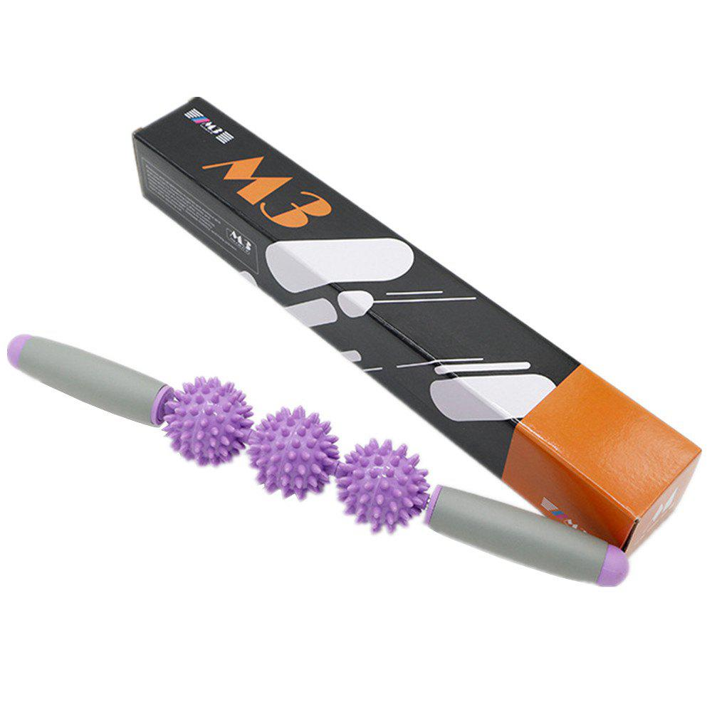 Restore Pressure Point Muscle Roller Massage Stick Promote Circulation for Rapid Healing - PURPLE