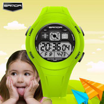 Sanda 331 1278 Leisure Fashionable Outdoor Sports Multi Function Display Waterproof Electronic Watch - GRASS GREEN
