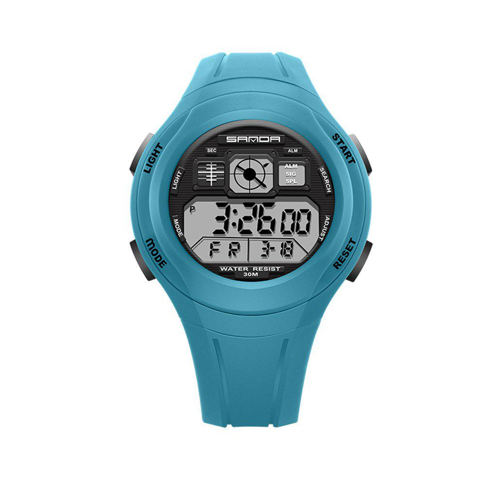 Sanda 331 1278 Leisure Fashionable Outdoor Sports Multi Function Display Waterproof Electronic Watch - OASIS