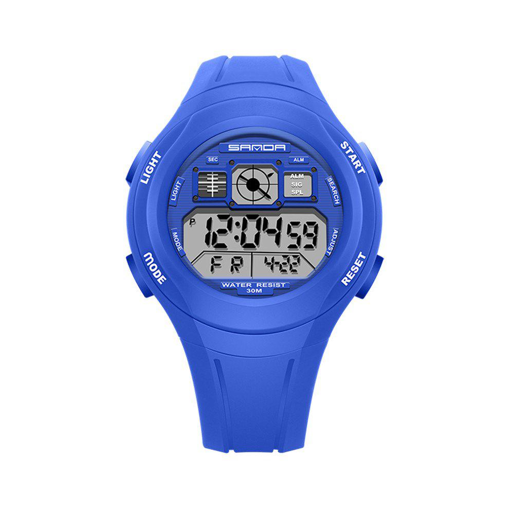 Sanda 331 1278 Leisure Fashionable Outdoor Sports Multi Function Display Waterproof Electronic Watch - CERULEAN