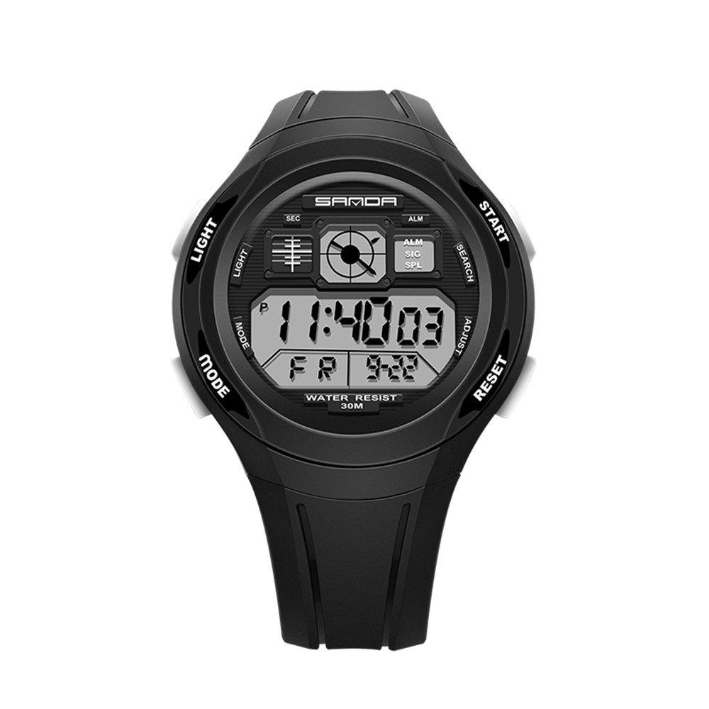Sanda 331 1278 Leisure Fashionable Outdoor Sports Multi Function Display Waterproof Electronic Watch - BLACK