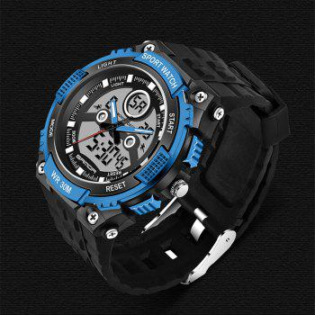 Sanda 709 1293 Stylish Outdoor Sports Trend Pointer Digital Double Display Multi Function Display Waterproof Electronic - BLUE