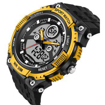 Sanda 709 1293 Stylish Outdoor Sports Trend Pointer Digital Double Display Multi Function Display Waterproof Electronic - GOLDEN