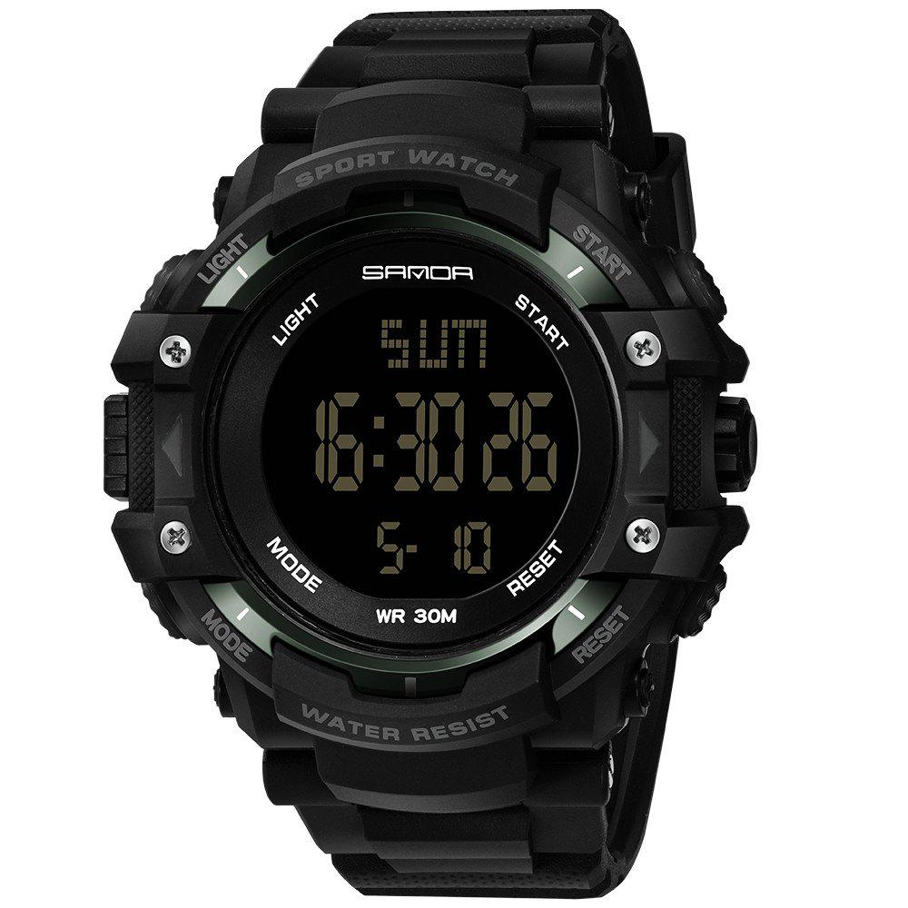 Sanda 348 1294 Outdoor Fashion Trend Date Calendar Shows Multi-Purpose Waterproof Electronic Watch - BLACK