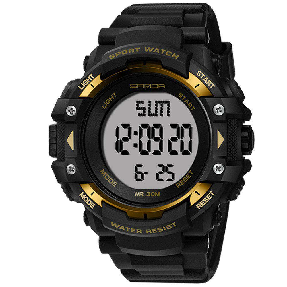 Sanda 348 1294 Outdoor Fashion Trend Date Calendar Shows Multi-Purpose Waterproof Electronic Watch - GOLDEN